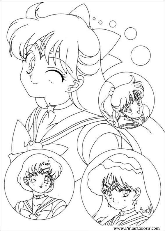 Dibujos Para Pintar Y Color Sailor Moon Diseño De