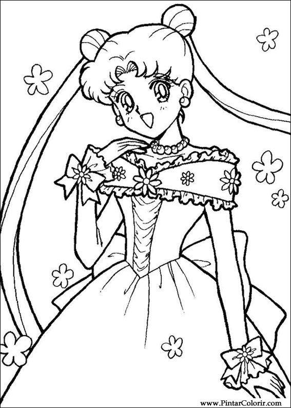 Disegni Per Dipingere Colour Sailor Moon Stampare Realizzazione 012