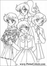 Pintar e Colorir Sailor Moon - Desenho 001