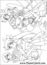 Pintar e Colorir Sailor Moon - Desenho 002