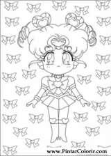Pintar e Colorir Sailor Moon - Desenho 003