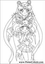 Pintar e Colorir Sailor Moon - Desenho 004