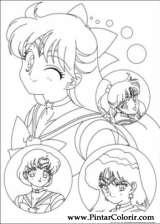 Pintar e Colorir Sailor Moon - Desenho 005