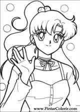 Pintar e Colorir Sailor Moon - Desenho 011