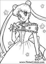 Pintar e Colorir Sailor Moon - Desenho 012