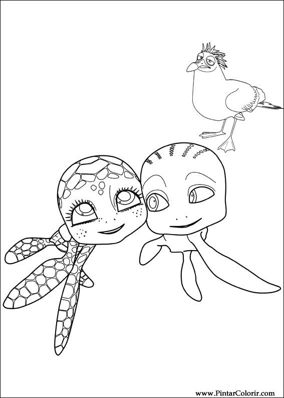 Kleurplaat Schildpad Sammy Archidev