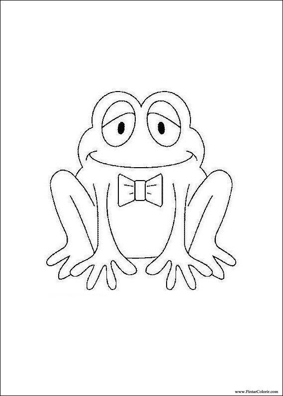 çizimler Boya Ve Renk Kurbağa Için Baskı Tasarım 003