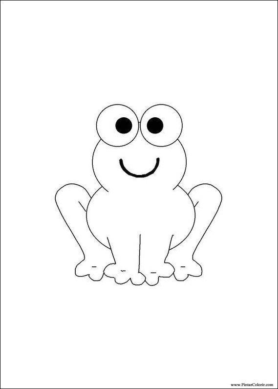 çizimler Boya Ve Renk Kurbağa Için Baskı Tasarım 008