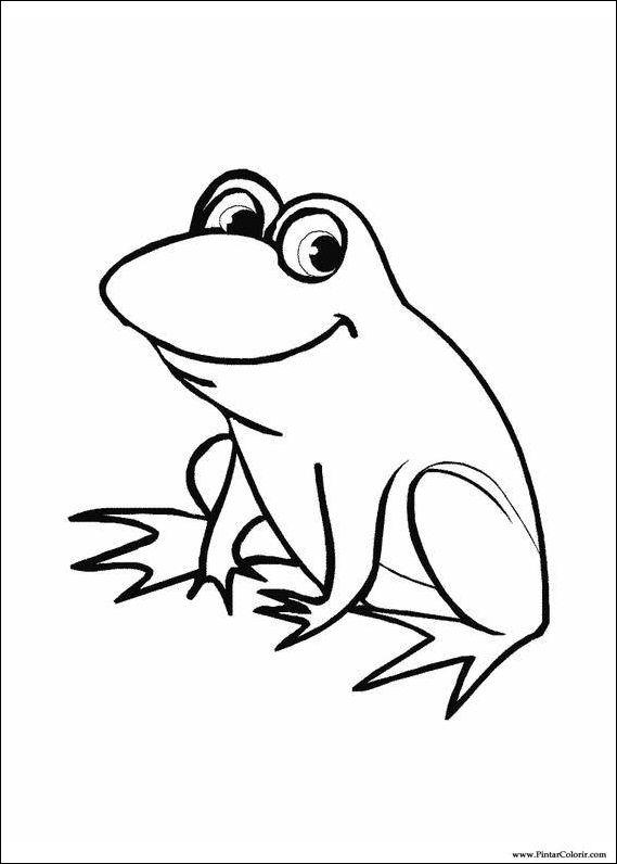 Dibujos para pintar y Color de la rana - Diseño de impresión 022