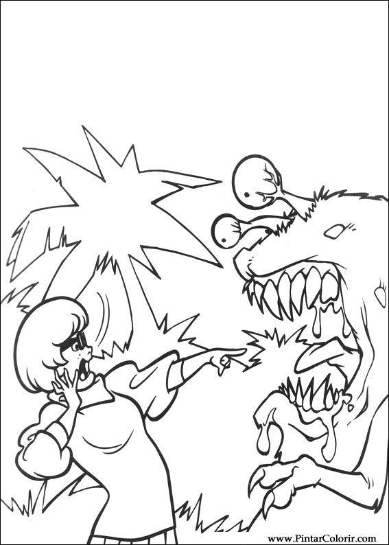 çizimler Boya Ve Renk Scooby Doo Için Baskı Tasarım 016