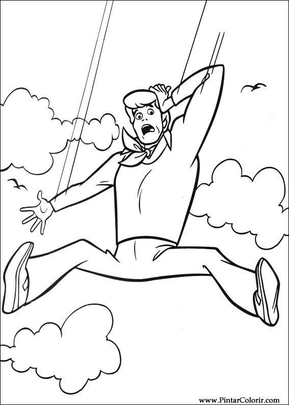 Dibujos para pintar y Color Scooby Doo - Diseño de impresión 017
