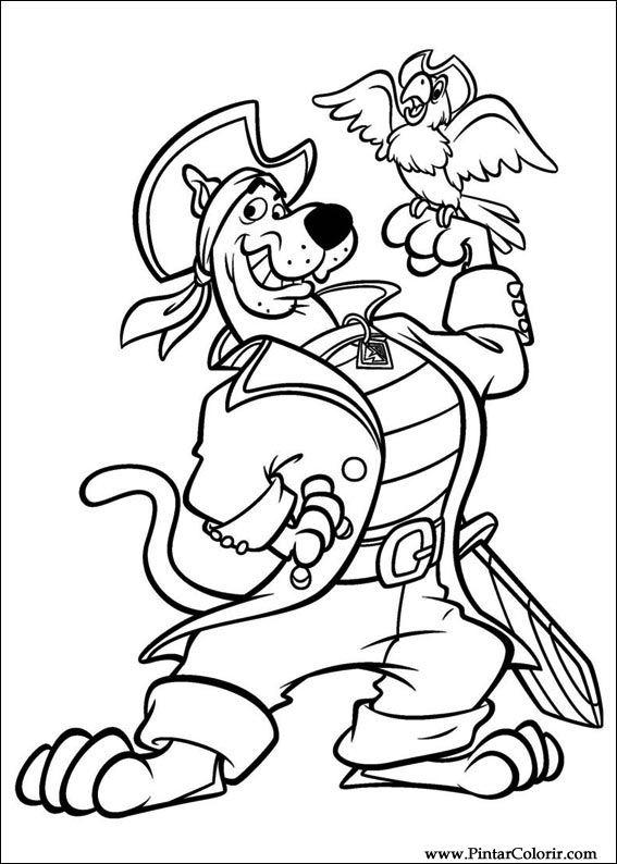 Desenhos Para Pintar E Colorir Scooby Doo Imprimir Desenho 028