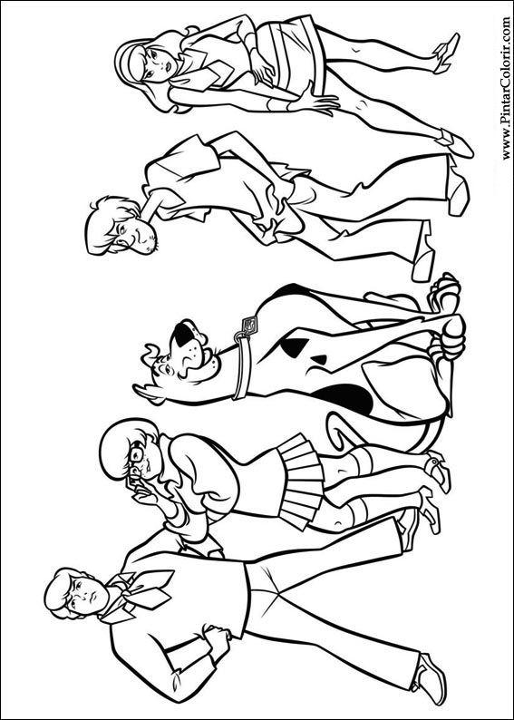 çizimler Boya Ve Renk Scooby Doo Için Baskı Tasarım 036