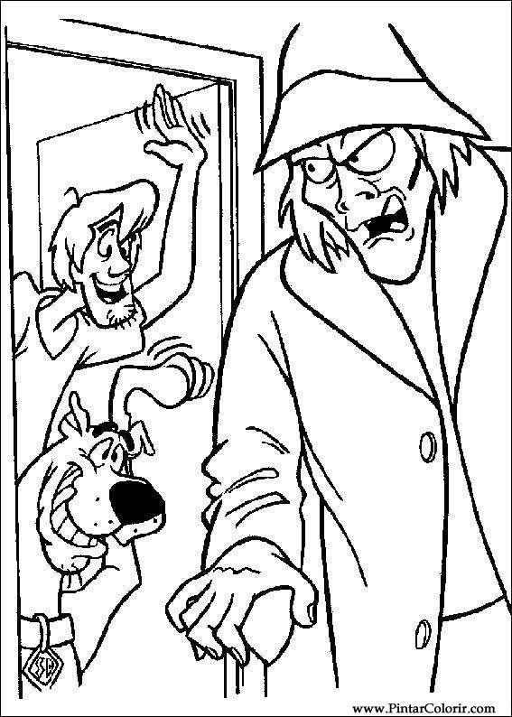 çizimler Boya Ve Renk Scooby Doo Için Baskı Tasarım 043