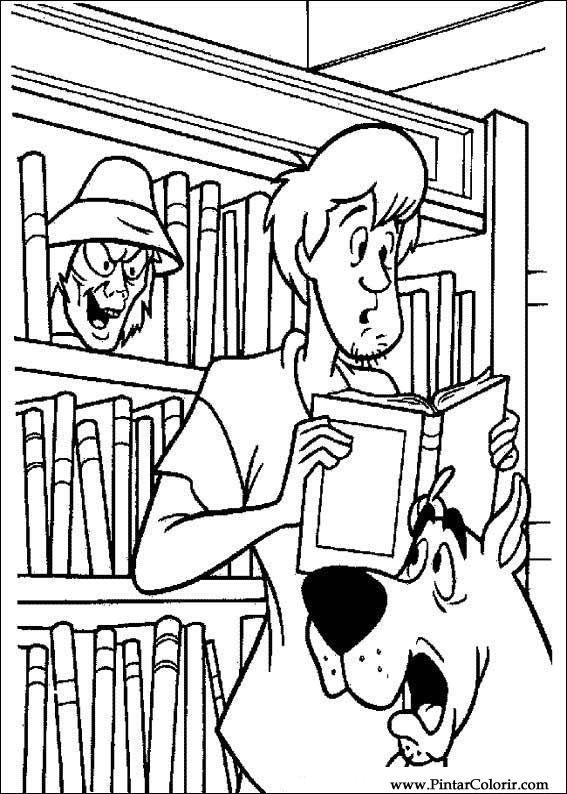 Desenhos Para Pintar E Colorir Scooby Doo Imprimir Desenho 045