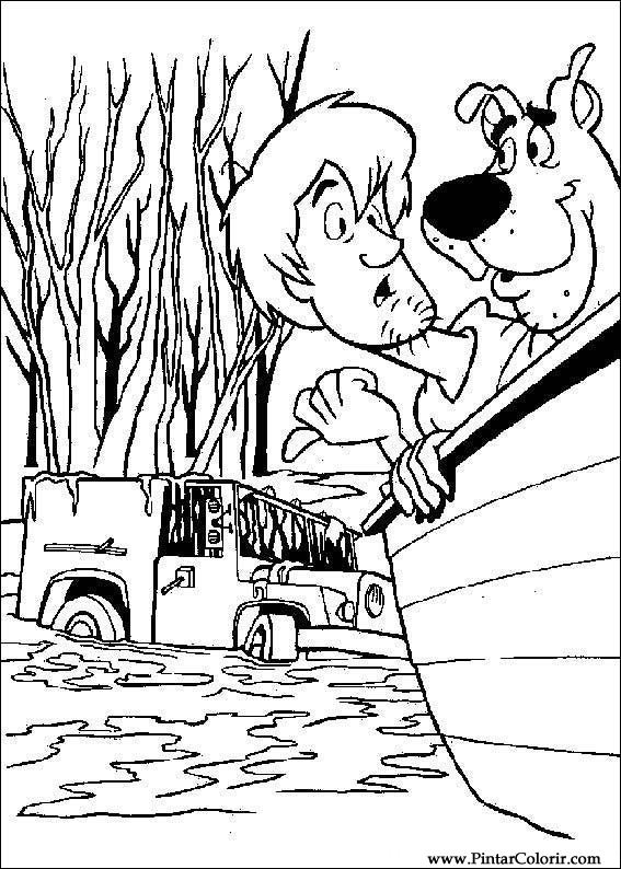 çizimler Boya Ve Renk Scooby Doo Için Baskı Tasarım 046