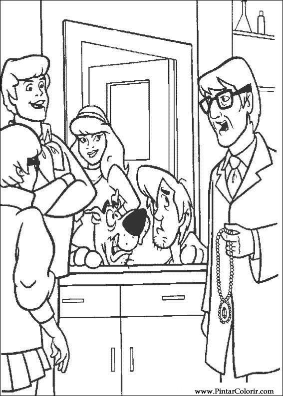 çizimler Boya Ve Renk Scooby Doo Için Baskı Tasarım 052