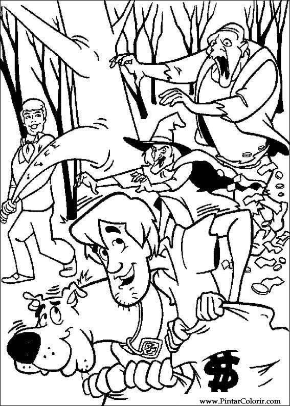 Desenhos Para Pintar E Colorir Scooby Doo Imprimir Desenho 053
