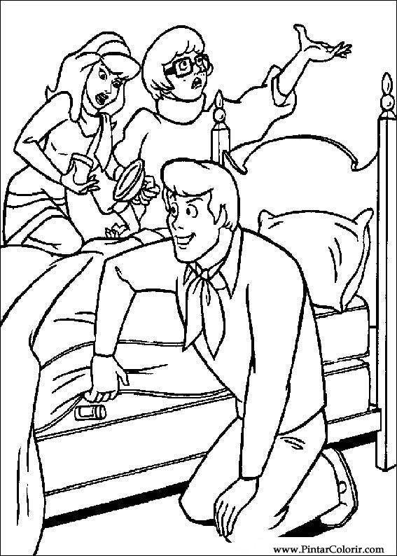çizimler Boya Ve Renk Scooby Doo Için Baskı Tasarım 055