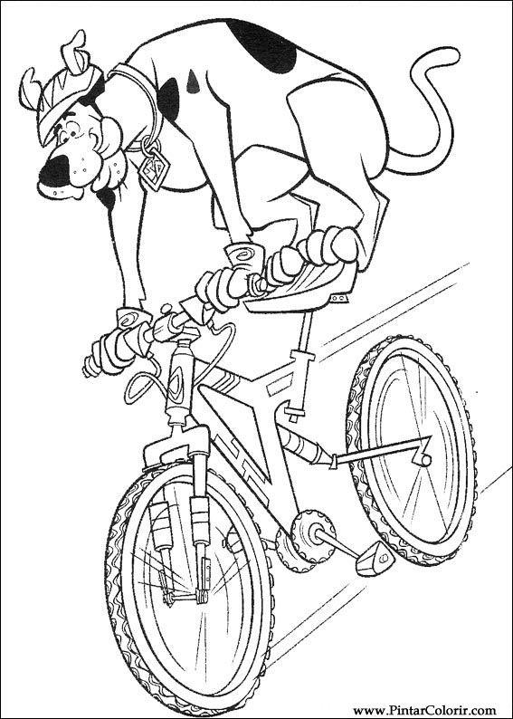 Desenhos Para Pintar E Colorir Scooby Doo Imprimir Desenho 067