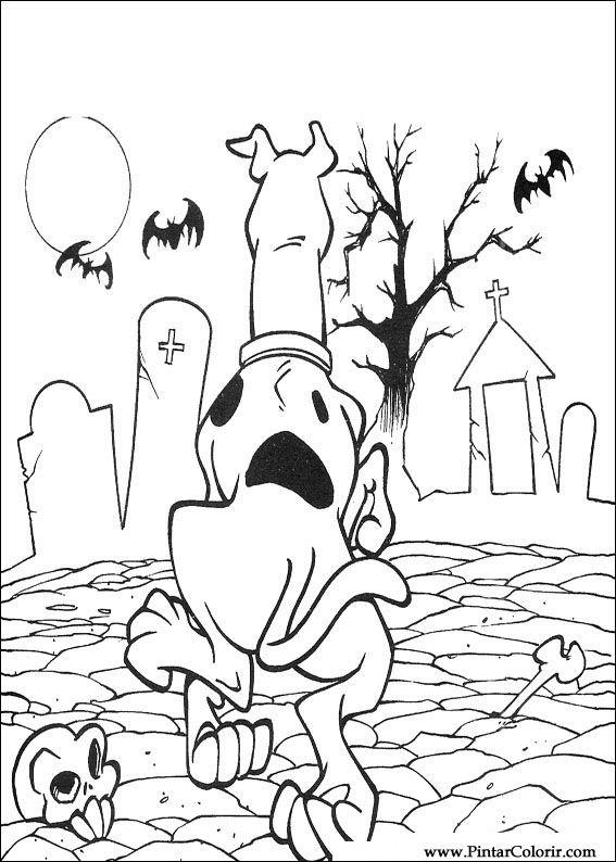 Desenhos Para Pintar E Colorir Scooby Doo Imprimir Desenho 068