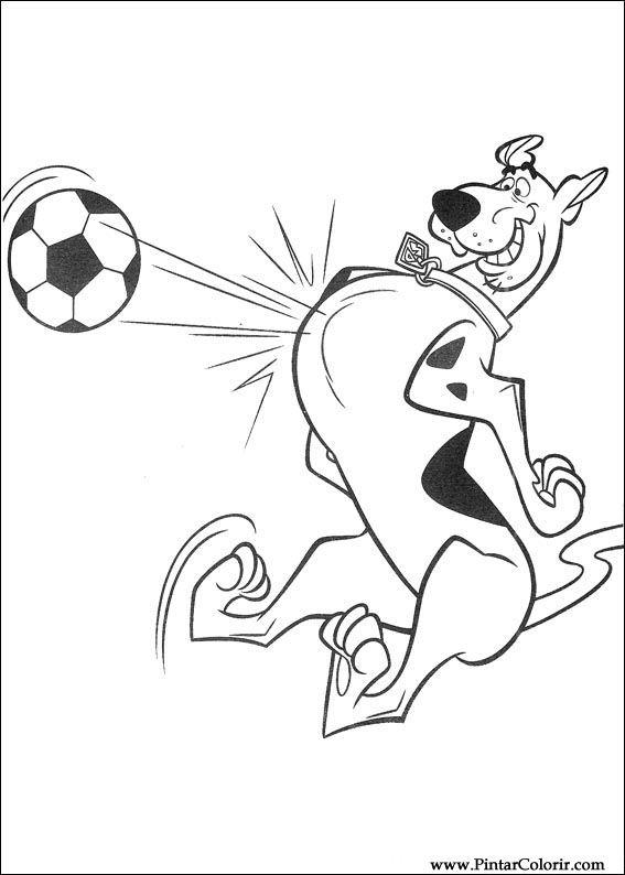 Dibujos para pintar y Color Scooby Doo - Diseño de impresión 079