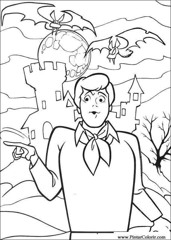 Desenhos Para Pintar E Colorir Scooby Doo Imprimir Desenho 080