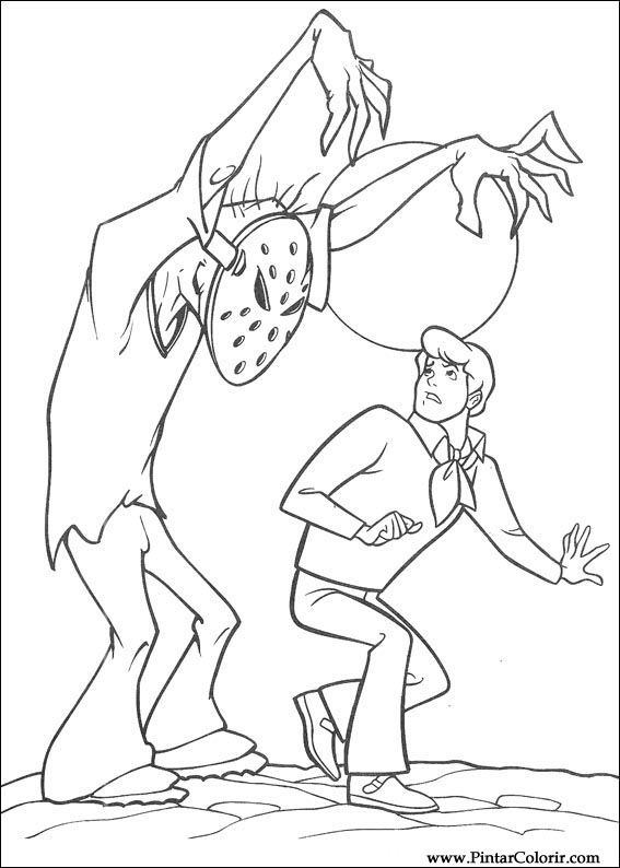 Desenhos Para Pintar E Colorir Scooby Doo Imprimir Desenho 081