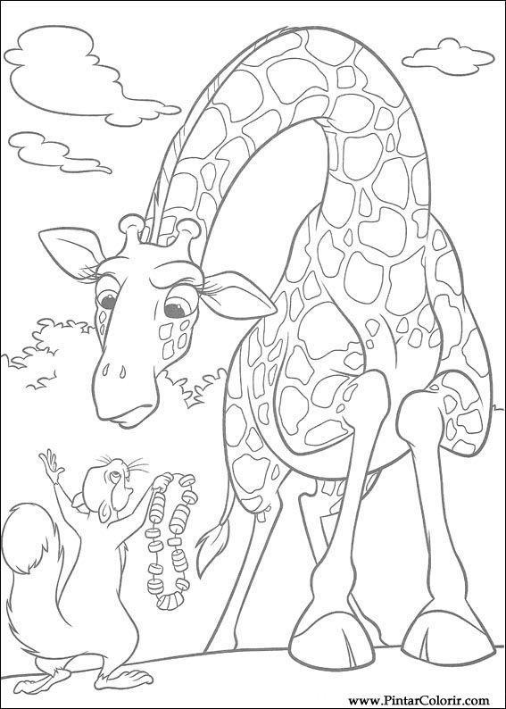 Desenhos Para Pintar E Colorir Selvagem Imprimir Desenho 011