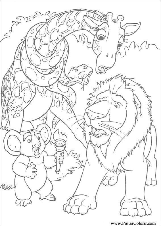 Desenhos Para Pintar E Colorir Selvagem Imprimir Desenho 034