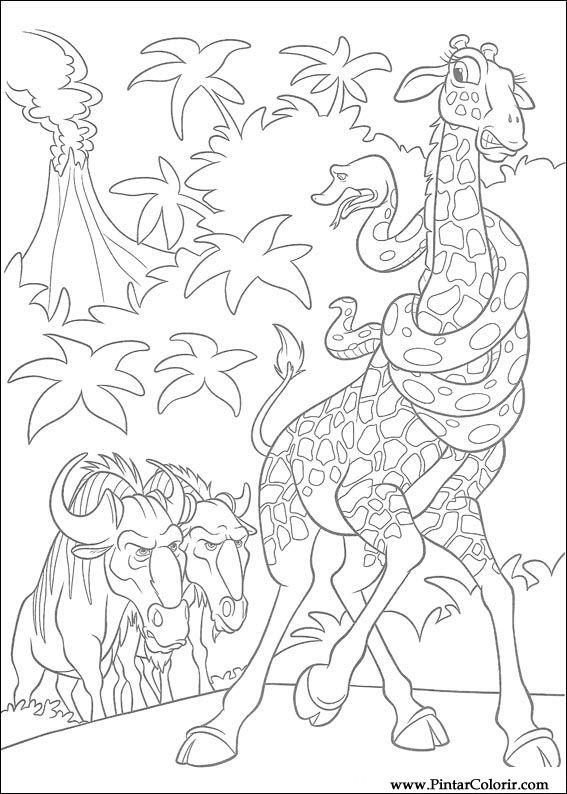 Desenhos Para Pintar E Colorir Selvagem Imprimir Desenho 037