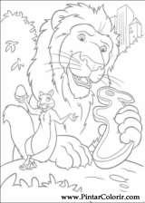 Pintar e Colorir Selvagem - Desenho 007