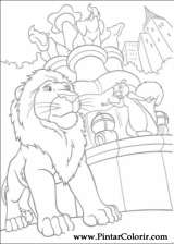 Pintar e Colorir Selvagem - Desenho 008