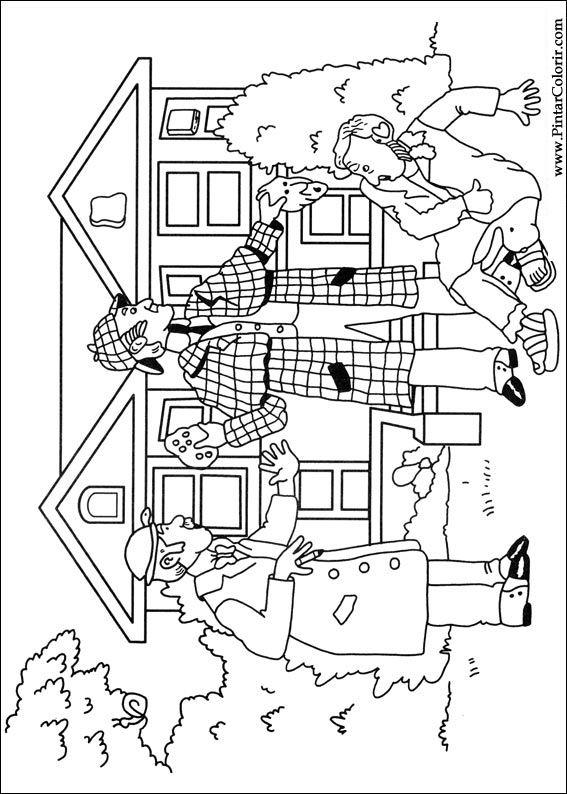 Pintar e Colorir Sherlock Holmes - Desenho 003