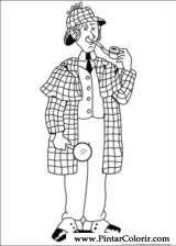 Pintar e Colorir Sherlock Holmes - Desenho 002