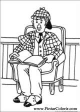 Pintar e Colorir Sherlock Holmes - Desenho 005