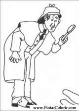 Pintar e Colorir Sherlock Holmes - Desenho 012
