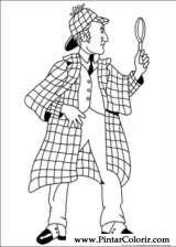 Pintar e Colorir Sherlock Holmes - Desenho 013