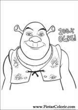 Pintar e Colorir Shrek Para Sempre - Desenho 026