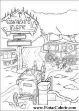 Pintar e Colorir Shrek Para Sempre - Desenho 029