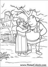 Pintar e Colorir Shrek Para Sempre - Desenho 032