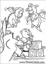 Pintar e Colorir Shrek Para Sempre - Desenho 034