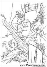 Pintar e Colorir Shrek Para Sempre - Desenho 036
