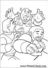 Pintar e Colorir Shrek Para Sempre - Desenho 045