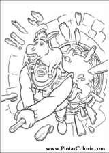 Pintar e Colorir Shrek Para Sempre - Desenho 053