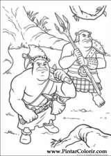 Pintar e Colorir Shrek Para Sempre - Desenho 056