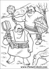 Pintar e Colorir Shrek Para Sempre - Desenho 057
