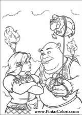Pintar e Colorir Shrek Para Sempre - Desenho 060