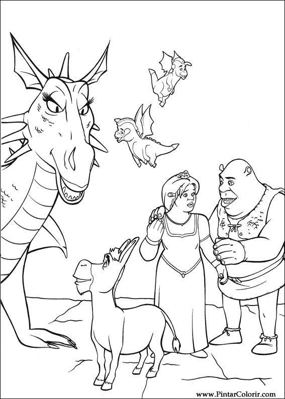 Disegni Di Dipingere E Di Colore Shrek Terzo Stampare