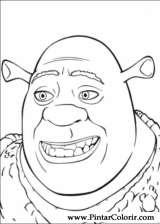 Pintar e Colorir Shrek Terceiro - Desenho 001